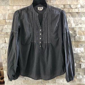 Converse Mini Stripe Cotton Long Sleeved Blouse